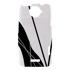 White and Black  HTC One X Hardshell Case