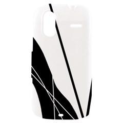 White and Black  HTC Amaze 4G Hardshell Case