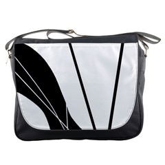 White and Black  Messenger Bags