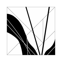 White and Black  Acrylic Tangram Puzzle (6  x 6 )