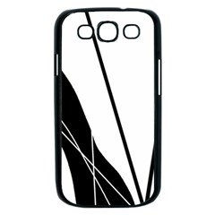 White and Black  Samsung Galaxy S III Case (Black)