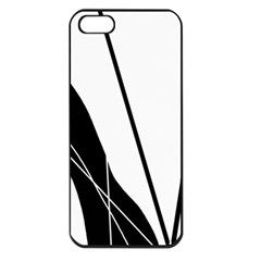 White and Black  Apple iPhone 5 Seamless Case (Black)