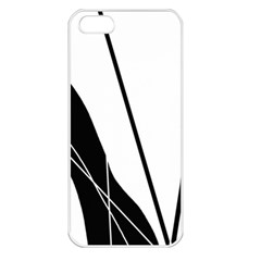 White and Black  Apple iPhone 5 Seamless Case (White)