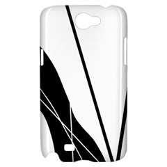 White and Black  Samsung Galaxy Note 2 Hardshell Case