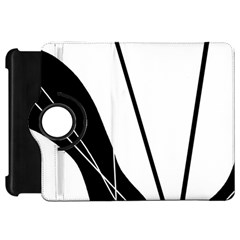 White and Black  Kindle Fire HD Flip 360 Case