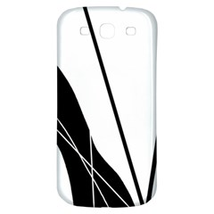 White and Black  Samsung Galaxy S3 S III Classic Hardshell Back Case