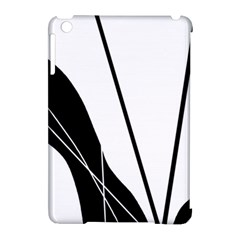 White and Black  Apple iPad Mini Hardshell Case (Compatible with Smart Cover)