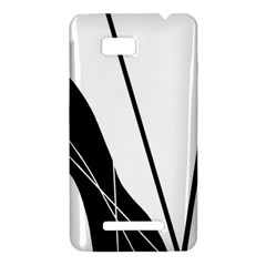 White and Black  HTC One SU T528W Hardshell Case