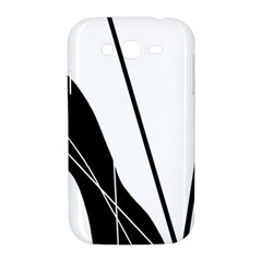White and Black  Samsung Galaxy Grand DUOS I9082 Hardshell Case