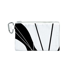 White and Black  Canvas Cosmetic Bag (S)