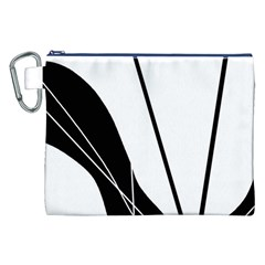 White and Black  Canvas Cosmetic Bag (XXL)