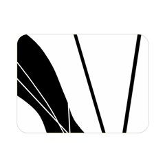 White and Black  Double Sided Flano Blanket (Mini)