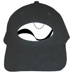 Waves - black and white Black Cap