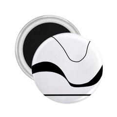 Waves - black and white 2.25  Magnets