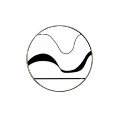 Waves - black and white Hat Clip Ball Marker