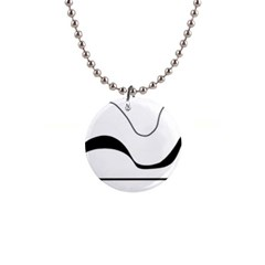 Waves - black and white Button Necklaces