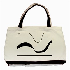 Waves - black and white Basic Tote Bag