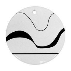 Waves - black and white Round Ornament (Two Sides)