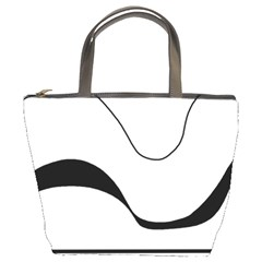 Waves - black and white Bucket Bags