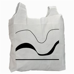 Waves - black and white Recycle Bag (Two Side)
