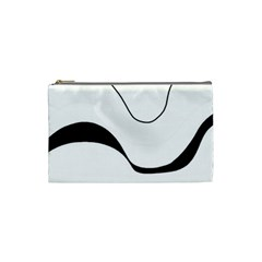 Waves - black and white Cosmetic Bag (Small)