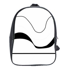 Waves - black and white School Bags(Large)