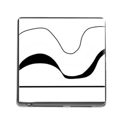 Waves - black and white Memory Card Reader (Square)