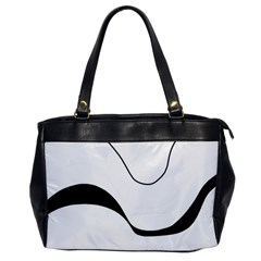 Waves - black and white Office Handbags