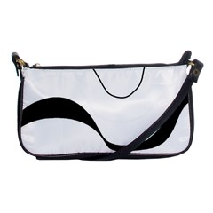 Waves - black and white Shoulder Clutch Bags