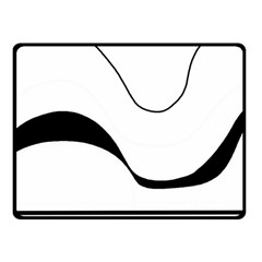 Waves - black and white Fleece Blanket (Small)
