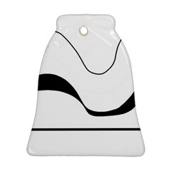 Waves - black and white Bell Ornament (2 Sides)
