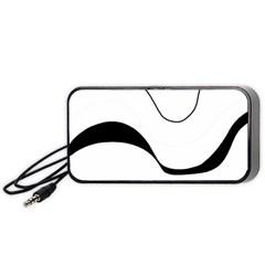 Waves - black and white Portable Speaker (Black)