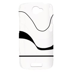 Waves - black and white HTC One S Hardshell Case