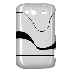Waves - black and white HTC Wildfire S A510e Hardshell Case