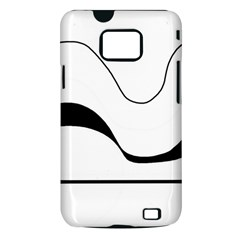 Waves - black and white Samsung Galaxy S II i9100 Hardshell Case (PC+Silicone)