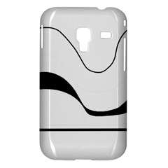 Waves - black and white Samsung Galaxy Ace Plus S7500 Hardshell Case