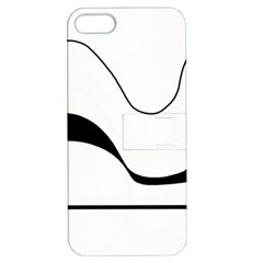 Waves - black and white Apple iPhone 5 Hardshell Case with Stand