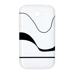 Waves - black and white Samsung Galaxy Grand DUOS I9082 Hardshell Case