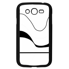 Waves - black and white Samsung Galaxy Grand DUOS I9082 Case (Black)