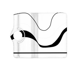 Waves - black and white Kindle Fire HDX 8.9  Flip 360 Case