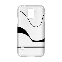 Waves - black and white Samsung Galaxy S5 Hardshell Case