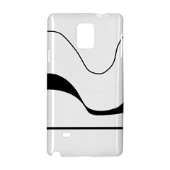 Waves - black and white Samsung Galaxy Note 4 Hardshell Case