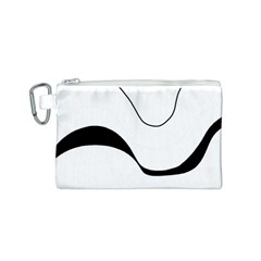 Waves - black and white Canvas Cosmetic Bag (S)