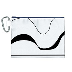 Waves - black and white Canvas Cosmetic Bag (XL)
