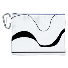 Waves - black and white Canvas Cosmetic Bag (XXL)