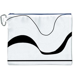 Waves - black and white Canvas Cosmetic Bag (XXXL)