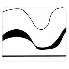 Waves - black and white Double Sided Flano Blanket (Small)