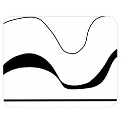 Waves - black and white Double Sided Flano Blanket (Medium)