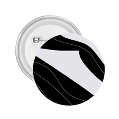 White and black decorative design 2.25  Buttons