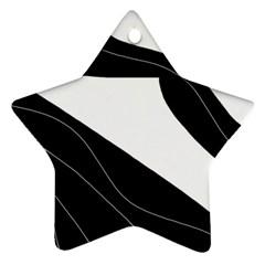 White and black decorative design Ornament (Star)